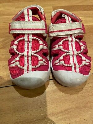 Clarks Girls Toddler Pink And White Summer Shoes Size 5F