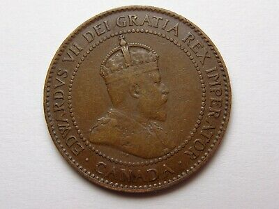 1906 Canada Edward Vii Bronze Large Cent Vf Very Nice! Must See!!