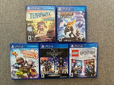 Kid's PS4 game lot (Sony Playstation 4): Harry Potter, Tearaway and More!!!