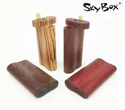 Handmade dugout with Large cigarette style one hitter – exotic woods