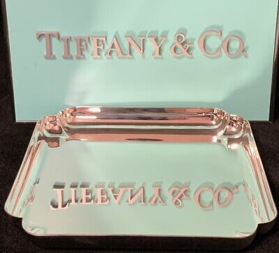 Tiffany&Co Sterling Silver Trinket Tray - Square with Indented Corners