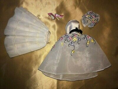 """12/"""" High End Doll Fashion~Black//White Tulip Satin dress~Fit Royalty~Nu Face~New"""