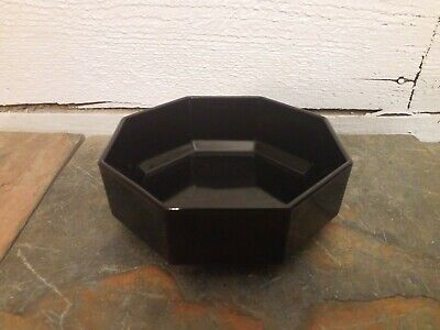 Arcoroc France OCTIME BLACK Soup Cereal Bowl Octagon MULTIPLES AVAILABLE