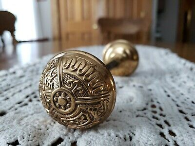 "Antique Eastlake Victorian Ornate Doorknobs Polished Ornate 7""L"
