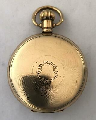 Pocket Watch Waltham 1925 Size 16s 15 Jewel Rolled Gold Hunter Case Working