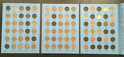 (63) Lincoln Memorial Cents in Whitman Album #9000 - 1959-1998 Coin Collection