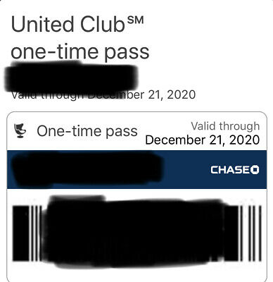 Two (2) UNITED CLUB PASSES (exp. 12/21/2020). Email delivery