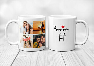 Personalised Mug Custom Photo Text valentines father mothers day birthday gift