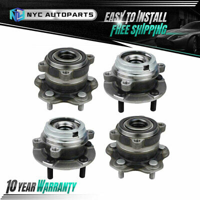 Rear Wheel Bearing LH Left RH Right PAIR for 09-13 Nissan Murano 4WD AWD