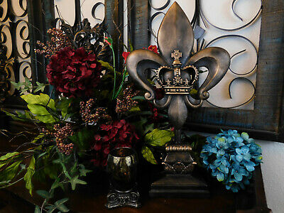 Fleur De Lis Finial, Standing, Tabletop Decorations, Office Decor Louisiana NOLA