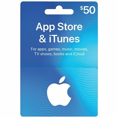 App Store & iTunes Gift Cards $50 - Email Delivery