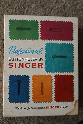 Vintage SINGER PROFESSIONAL BUTTONHOLER Attachment Zig-Zag Sewing Machine 381116