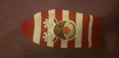 UK Dog Pet Rudolph Jumper Sweater Clothes Knitwear Coat Apparel S