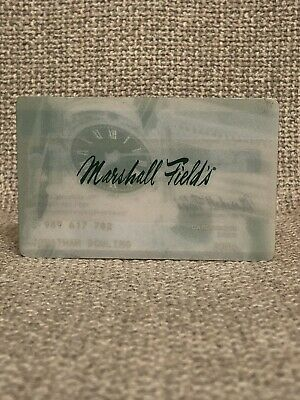 Marshall Field's Department Store Vintage Collectors Credit Card