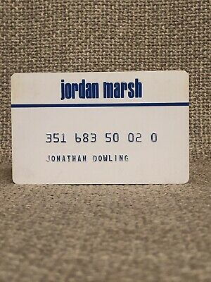 Jordan Marsh Department Store Vintage Collectors Credit Card