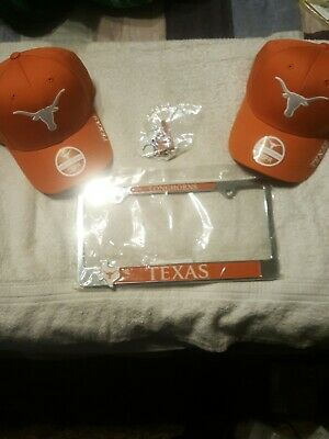 Texas longhorn hats license cover and key chain all new all licensed