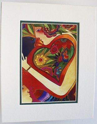 Kindred Spirits by Laurel Burch Matted /& Framed Abstract Cat /& Dog Animal