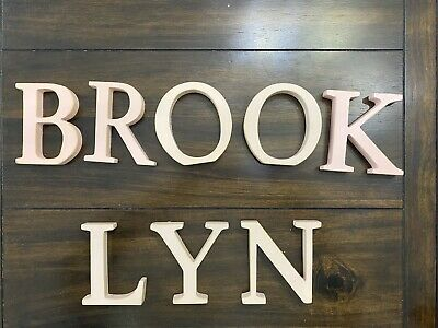 Pottery Barn Kids Pink Wooden Letters