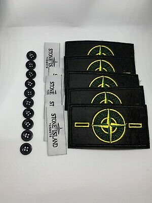 Stone Island Brand patch badge Écusson De Rechange X 5