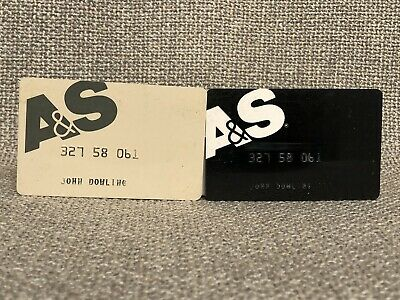 A&S Abraham & Straus Department Store Vintage Collectors Credit Card SET OF TWO