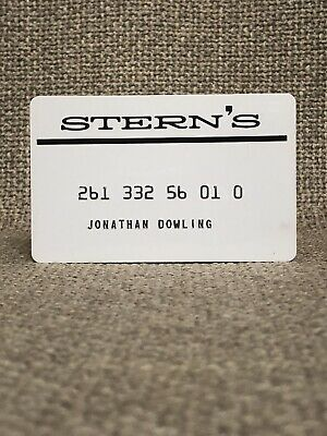 Stern's Department Store Vintage Collectors Credit Card