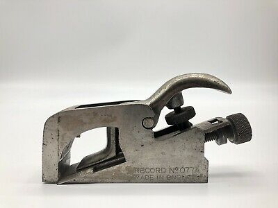 Vintage RECORD No 077A Bull Nose Rabbet Plane Antique Woodworking Tool ENGLAND