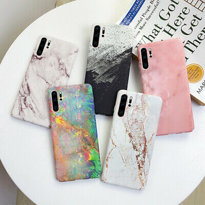 For Huawei P30 Pro P20 Mate 30 20 Lite P Smart Marble Gold Crack Hard Case Cover