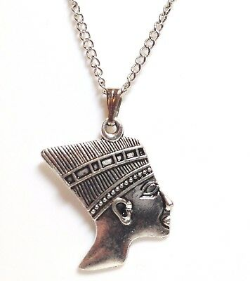 """PHARAOH_Pendant on 18"""" Chain Necklace_Egypt Ancient Pyramid King Tut Ethnic_249N"""