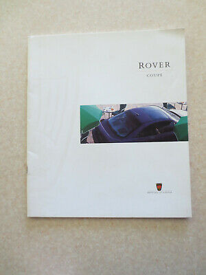 1990s Rover Coupe series automobiles advertising booklet