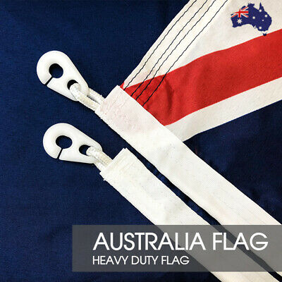 Australian Flag Size 1800x900 With Polyester Sister Clips HEAVY DUTY