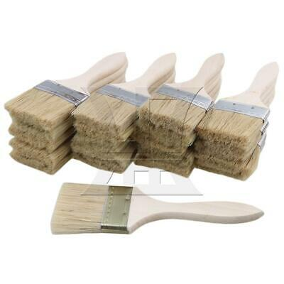 """20pcs 1.5/"""" Thick Wooden Handle Paint Brush Painting Tool for Decorating DIY"""