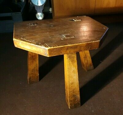 Antique milking stool handmade