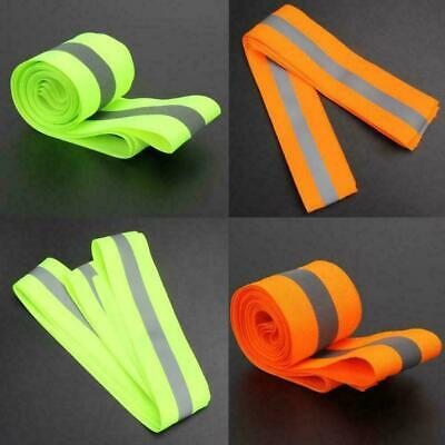 3 Meters Fluorescent Ribbon Clothing Safety Reflective Tape Warning Traffic E9J1
