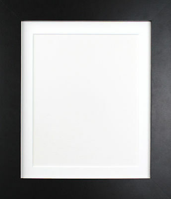 Black METRO Picture Poster Photo Frames & Black White or Ivory Mounts Many Sizes