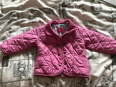 Joules Girls Quilted Coat 6-9 Months