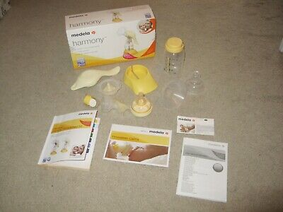 Medela Harmony Manual 2 Phase Breast Single Pump Boxed Accessories Manual