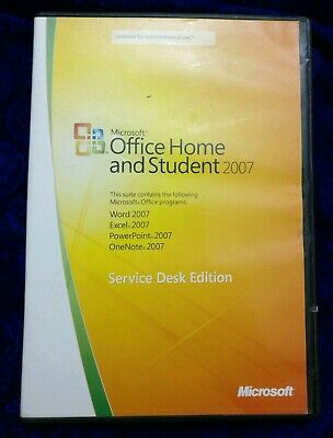 MS Microsoft Office 2007 Home and Student for 3 PCs Full English Version