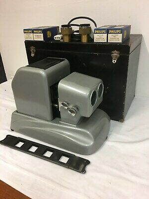 Vintage German Stereo Slide Projector - with spares and custom case WORKS !!
