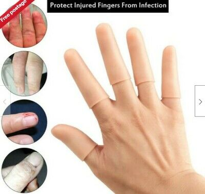 4 Pcs Silicone Thumb Sleeves Gel Finger Toe Protector Players Protective Covers