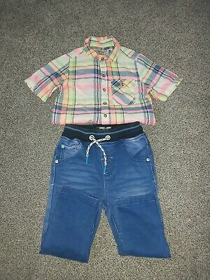 Aged 1.5-2 Years Boy Bundle From Next. Summer Shirt And Jeans. Great Condition