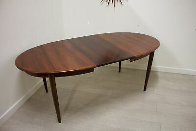 DELIVERY £60 Mid Century Danish Rosewood Extending Table by Gudme Mobelfabrik