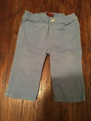 Boys Age 6-9 Months 7 For All Man Kind Trousers Excellent Condition