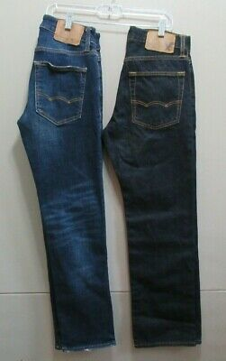 Men's / Boys American Eagle Jeans Size 26 X 28 ~ Lot Of 2 ~ Slim Straight