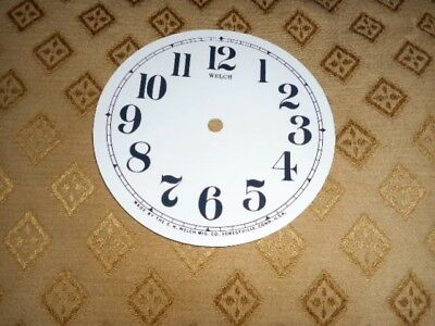 For American Clocks- Round Welch Paper (Card) Clock Dial-123mm M/T-GLOSS-Spares