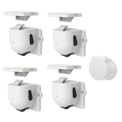 Magnetic Cabinet Locks For Baby Child Proof Safety Cupboard Door Drawer Kit R5Q0