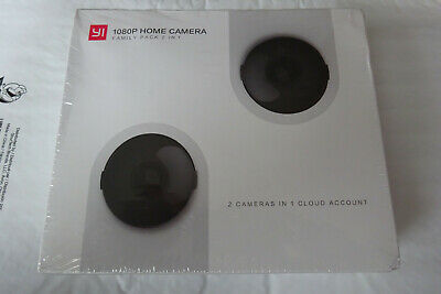 YI 1080P Wireless Home Camera Family Pack 2 In 1 Cloud Account ~ 2 CAMERAS NEW