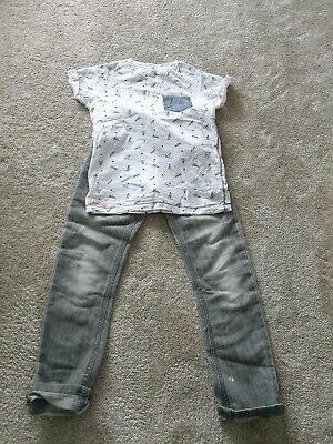 Boys NEXT jeans And Top Outfit 7 Years NEW