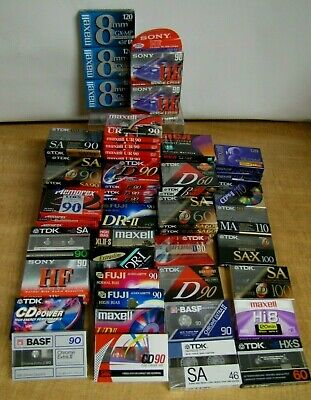 Assorted Set of 106 New Sealed Cassettes Tapes