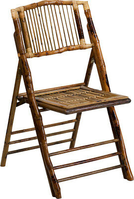 Bamboo Garden Dining Folding Chair in Natural Clear Glossy Finish