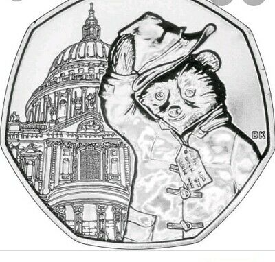 Paddington Bear at St Paul's Cathedral 50p - Fifty Pence coin 2019 -  Circulated